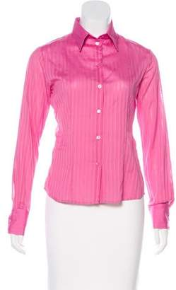 Christian Dior Long Sleeve Button-Up Top