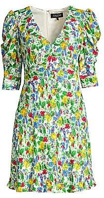 Saloni Women's Colette Floral Mini Dress