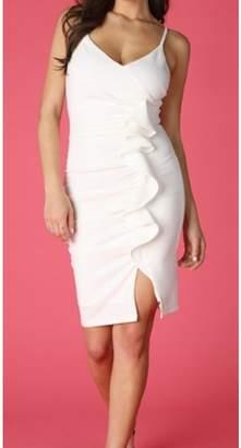 Nikibiki White Ruffle Dress