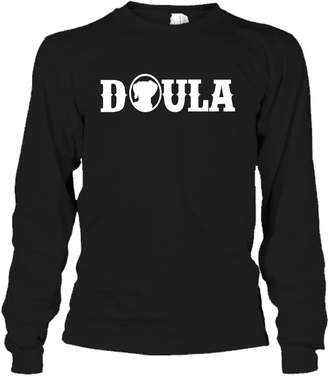 Crazy Love Shirts Doula Cool Tee Shirt - I Love Doula T-Shirt Gift for Friends Long Sleeve (XXL,Black)