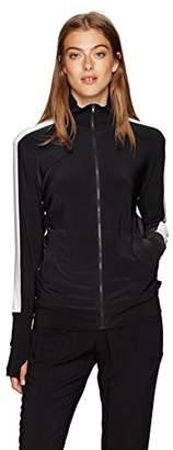 Norma Kamali Women's Side Stripe Turtle Jacket