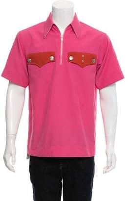 Calvin Klein Short Sleeve Zip-Up Polo
