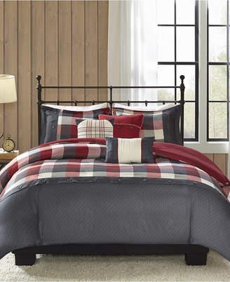 Madison Park Ridge 6-Pc. King/California King Duvet Cover Set Bedding