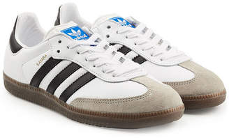 adidas Samba Suede and Leather Sneakers