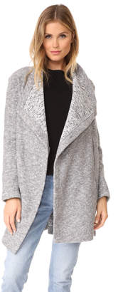 BB Dakota Maggie Drape Front Coat $120 thestylecure.com