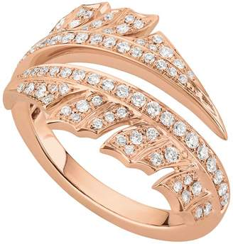 Stephen Webster Rose Gold Magnipheasant Pavé Diamond Split Ring