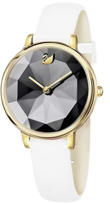 Swarovski Crystal Lake Gold Tone Leather Watch - 5416003