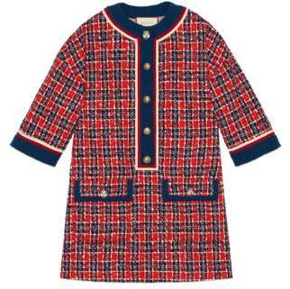 Gucci Tweed check tunic dress