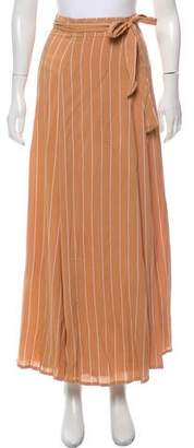 Faithfull The Brand Striped Midi Skirt