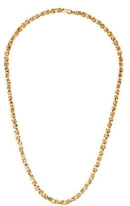 14K Textured Chain-Link Necklace