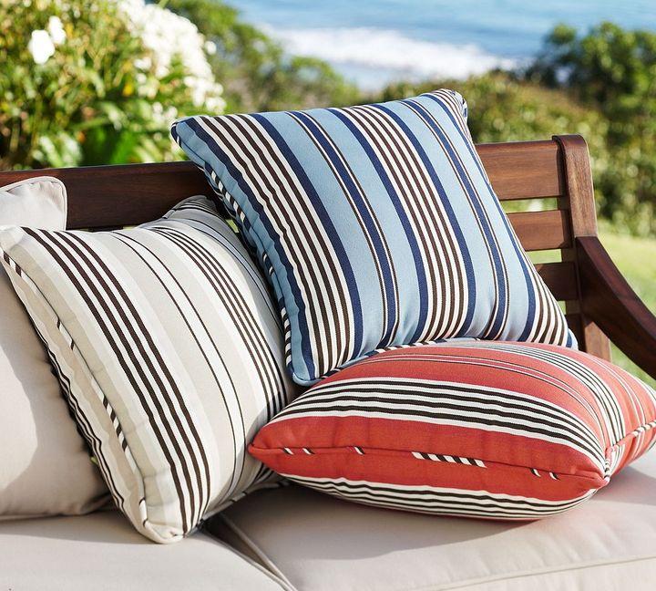 Regatta Stripe Outdoor Pillow