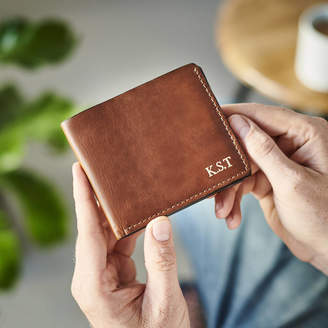 55633b85843b Vida Vida Personalised Leather Wallet With Coin Section