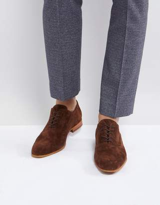 Zign Shoes Suede Lace Up Shoes In Brown