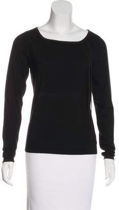 Akris Tie-Accented Cashmere Sweater