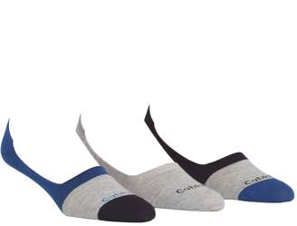 Calvin Klein 3-Pack Colourblocked No Show Socks