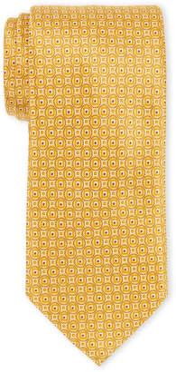 Brioni Gold Silk Circle Print Tie