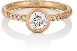 Malcolm Betts Women's Round White Diamond Ring - Rose Gold