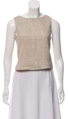 Brock Collection Sleeveless Tweed Top