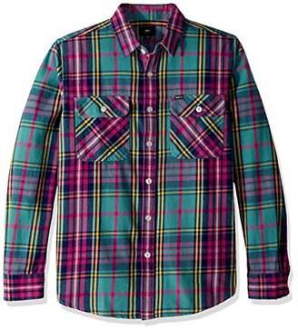 Obey Men's Nelson Long Sleeve Woven Shirt