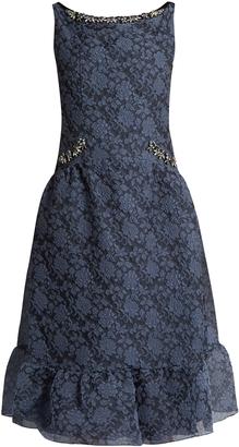 ERDEM Heta embellished organza-cloqué dress $2,005 thestylecure.com