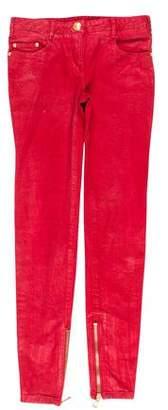 Balmain Mid-Rise Coated Jeans