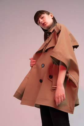 Genuine People Belted Cape Trench Coat