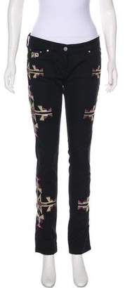 Isabel Marant Mid-Rise Embroidered Jeans