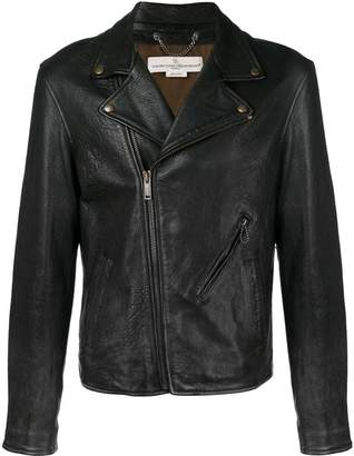 Golden Goose off-centre zipped biker jacket