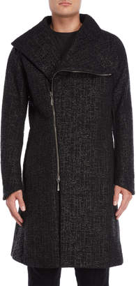 Masnada Textured Asymmetric Coat