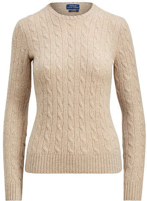 Polo Ralph Lauren Slim Cable Cashmere Sweater $398 thestylecure.com