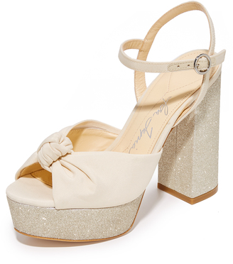 Isa Tapia Cheer Platform Sandals $595 thestylecure.com