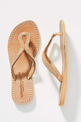 97f737b1da0 Laidback London Beaded Thong Sandals