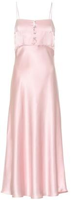 Bernadette Florence silk-satin slip dress