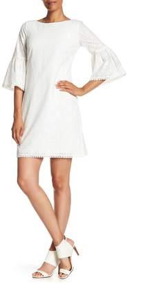 Eliza J Eyelet Lace A-Line Dress