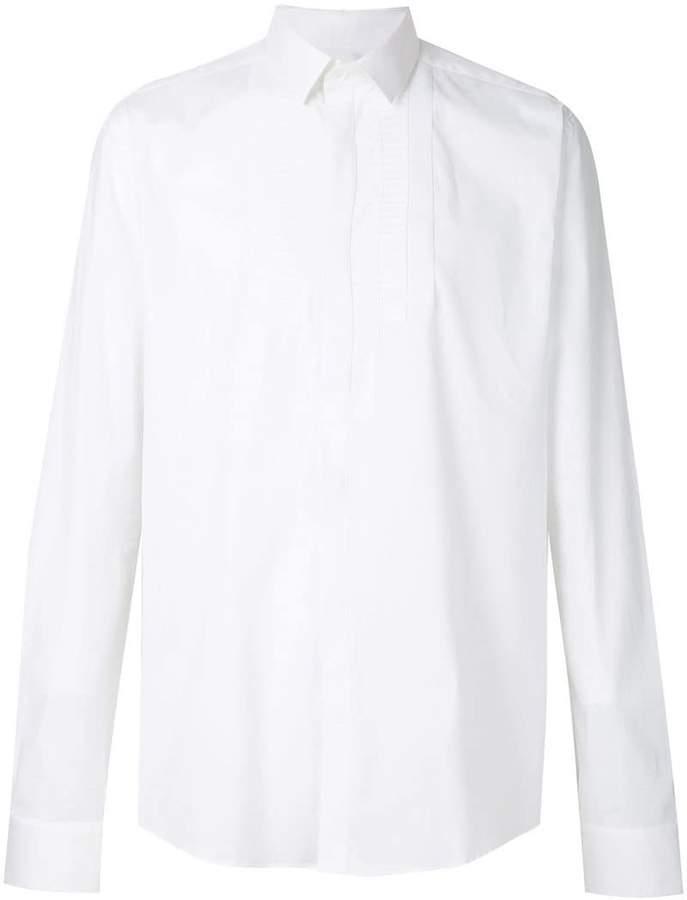 embroidered bib detail shirt