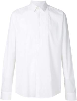 Les Hommes embroidered bib detail shirt