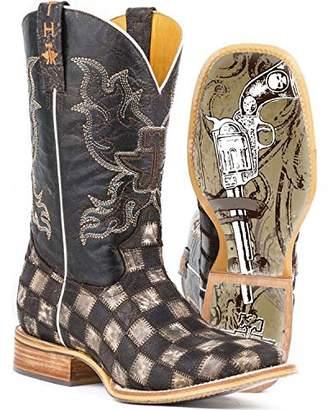 Tin Haul Shoes Men's Gun Metal Check