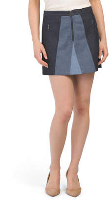 Color Blocked Mini Skirt