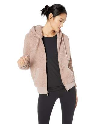 Andrew Marc Performance Women's Teddy Fleece Full Zip Hooded Jacket