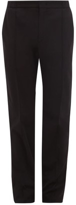 Giorgio Armani Tailored Stretch Jersey Crepe Trousers - Mens - Black