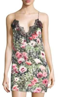 Fleur Du Mal Lace Applique Slip Dress