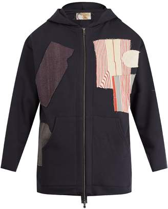 BY WALID Patchwork cut and sew cotton sweatshirt