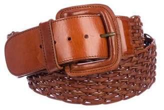 Krizia Woven Leather Belt