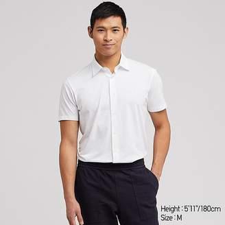 Uniqlo Men's Airism Jersey Full-open Polo Shirt