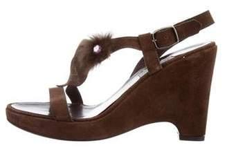 Philosophy di Alberta Ferretti Embellished Suede Sandals