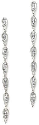 Adina Sterling Silver Pavé Diamond Teardrop Link Earrings