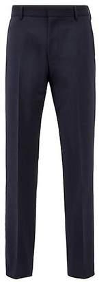 HUGO BOSS Slim-fit trousers in virgin wool with mohair