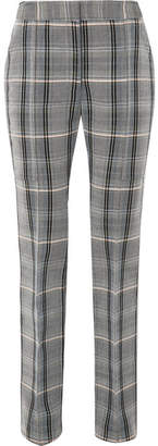 Stella McCartney Checked Wool And Cotton-blend Twill Slim-leg Pants - Gray