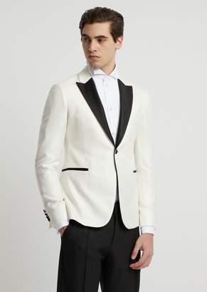 Emporio Armani Slim-Fit Tuxedo Jacket In Viscose With Satin Lapels