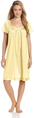 Vanity Fair Women's Coloratura Sleepwear Short Flutter Sleeve Gown 30109